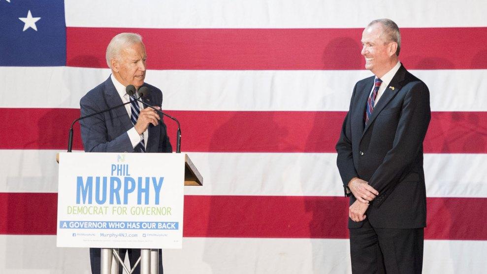 Joe Biden and Phil Murphy