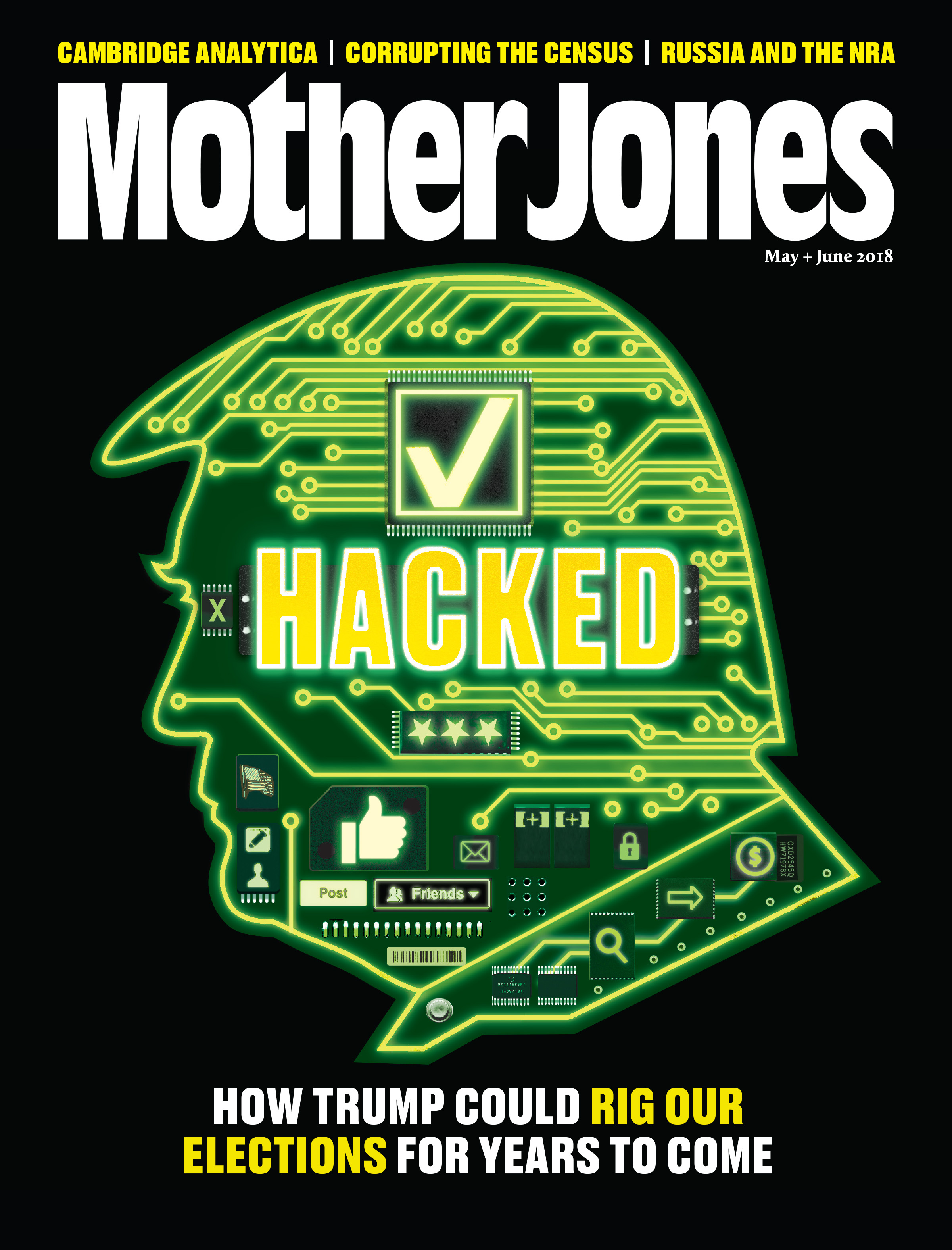 Mother Jones Magazine Cover : May + June 2018