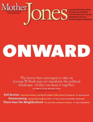 Mother Jones January/February 2005 Issue