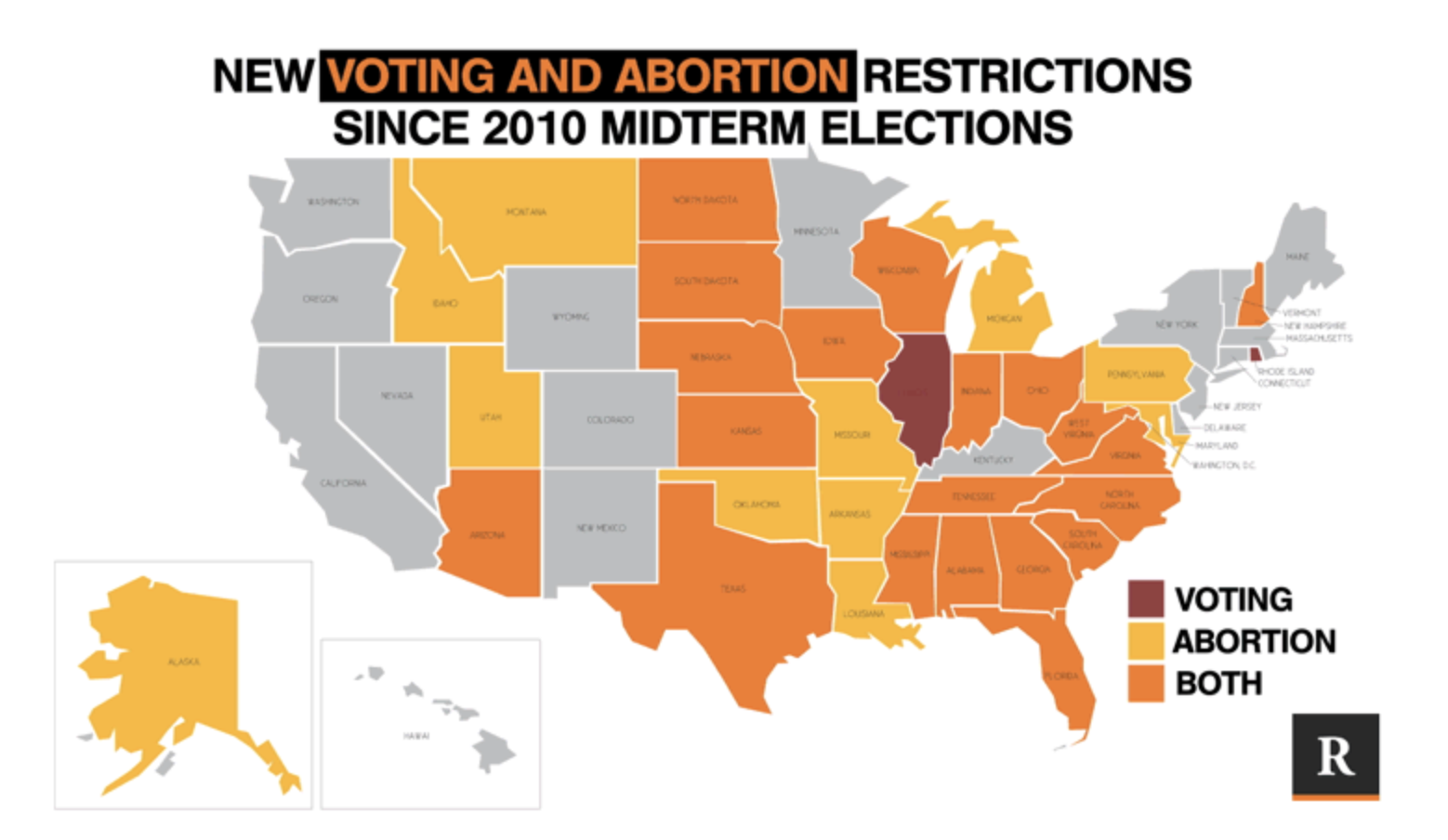 Abortion and voting restrictions