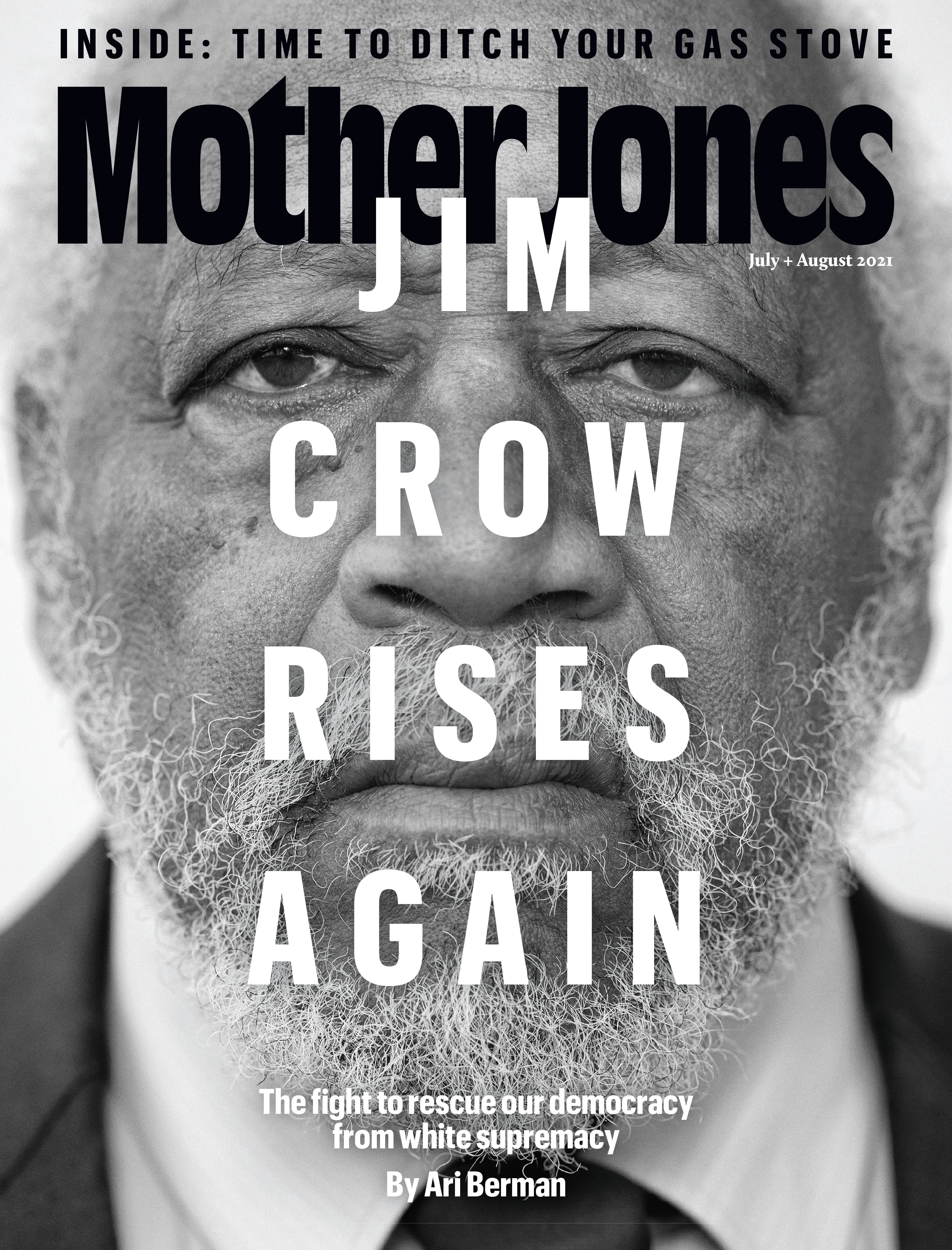 Mother Jones Magazine Cover : July + August 2021