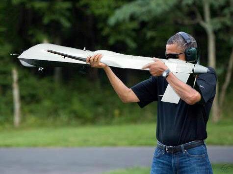 barack obama skeet shooting photoshop drone