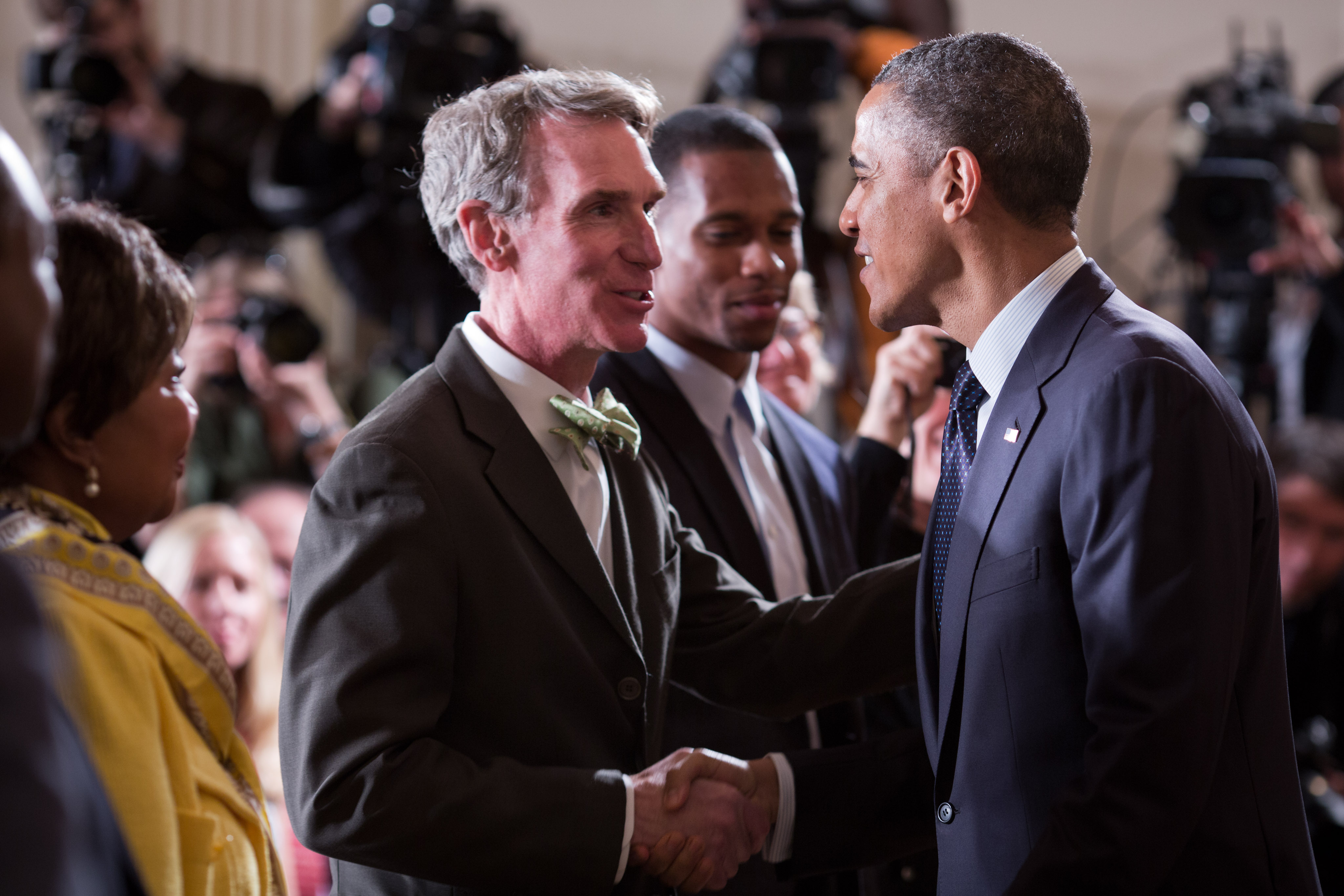 Bill Nye and Barack Obama
