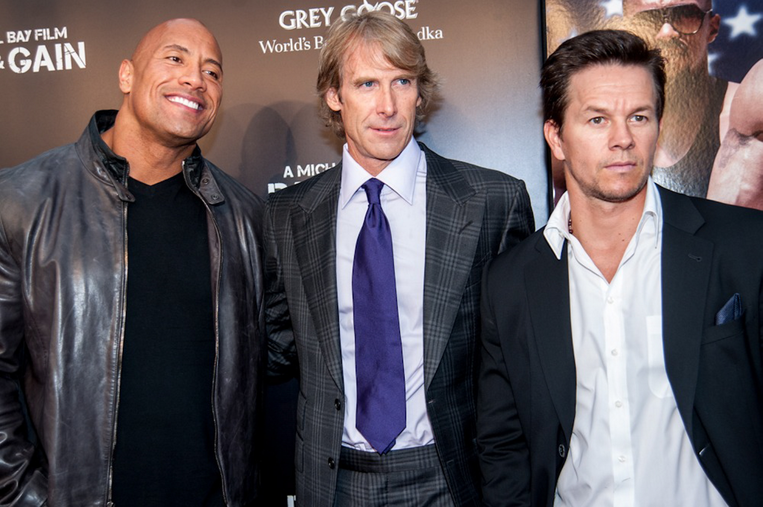 Michael Bay Dwayne The Rock Johnson Mark Wahlberg Pain and Gain