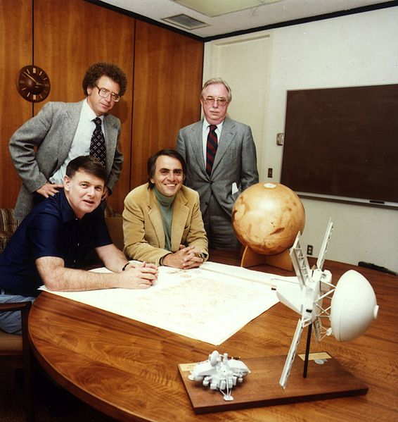 Carl Sagan at the founding of the Planetary Society.