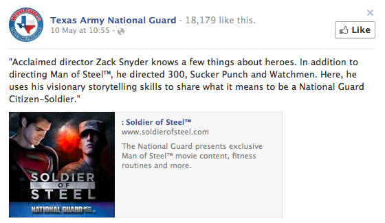 Facebook Texas National Guard Man of Steel Soldier of Steel