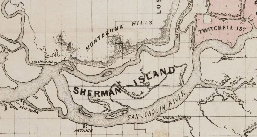 Sherman Island historical map