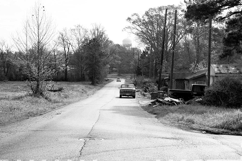 A road in Winnfield, Louisiana.