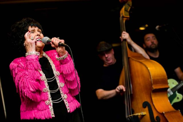 Wanda Jackson performed in the lobby bar of the Sheraton Hotel. The 13th Americana Music Festival and Conference, September 12-15, 2012, Nashville, TN