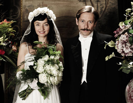 Maria de Medeiros and Mathieu Amalric as the unhappy couple, Faringuisse and Nasser-Ali.  Sony Pictures Classics