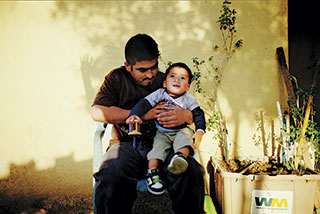 Ivan Rodriguez, 29, with his son, Ivan, who was born with a cleft palate