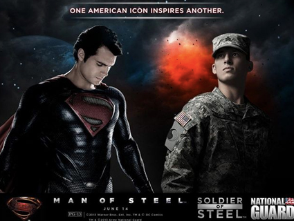 Man of Steel Soldier of Steel poster