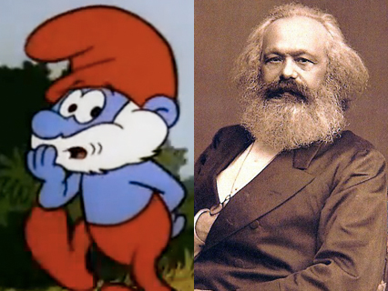 Papa Smurf and Karl Marx