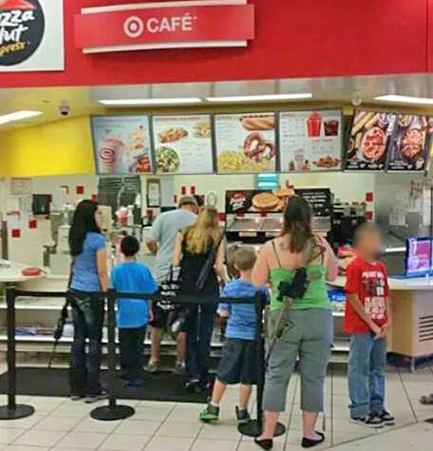 pizza hut in target moms with guns