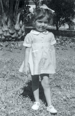 Maria Teresa Thierstein Simoes-Ferreira as a toddler in Mozambique